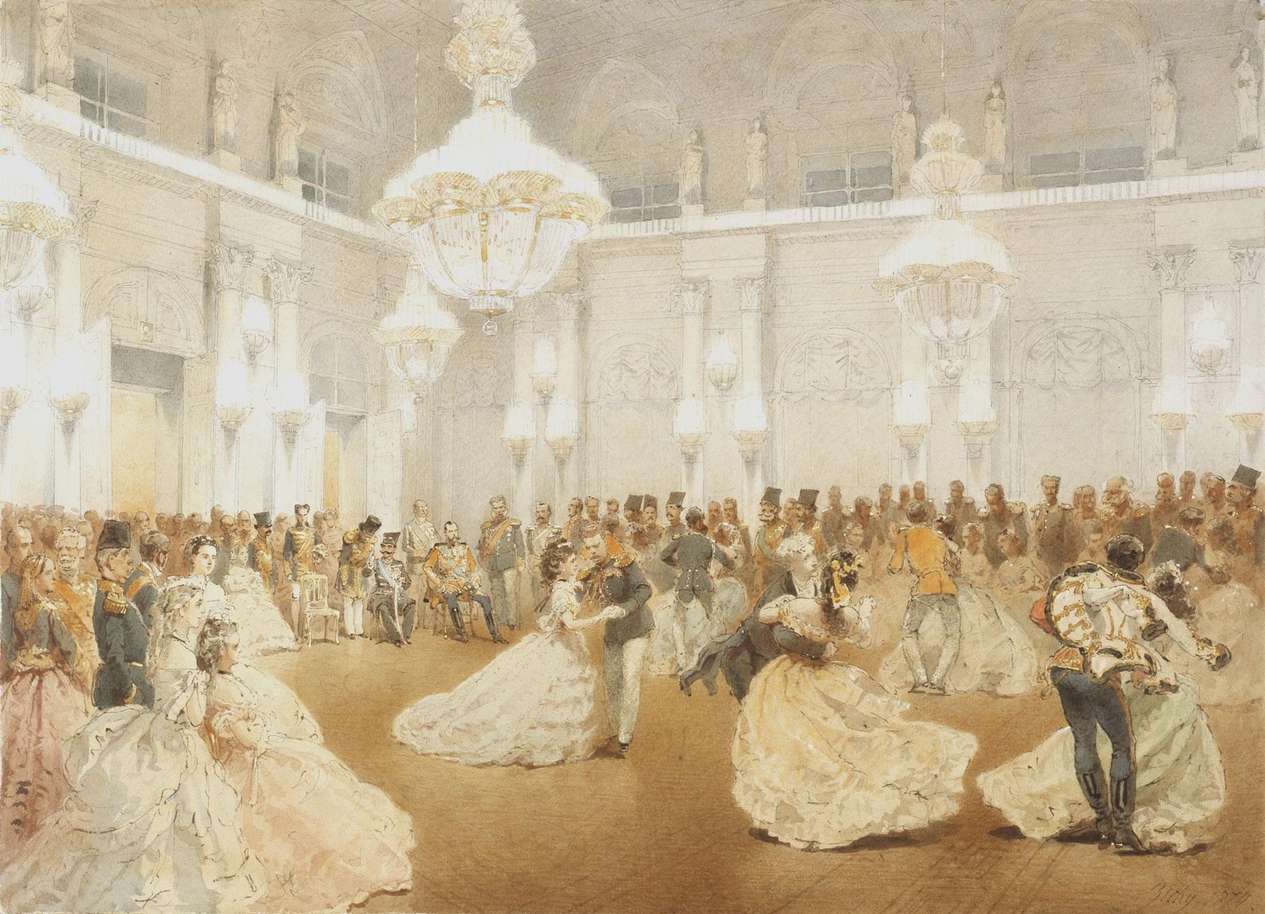Tsar Alexander 2 at a Ball in Winter Palace