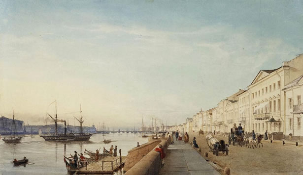 The English Embankment In 1835