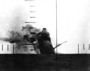 Torpedoed Cargo Ship