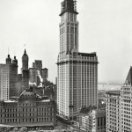The Woolworth Building under construction in 1913