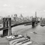 Manhattan and the Brooklyn Bridge 1915