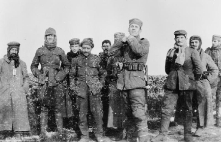 German and British soldiers in no-man's-land 26th December 1914.